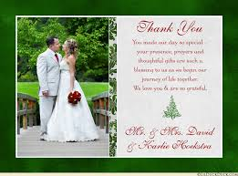 tree wedding thank you card photo