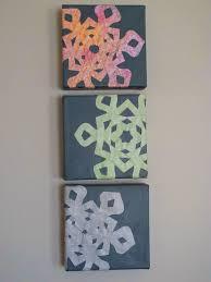 2015 christmas handmade scrapbook snowflake canvas arts for kids