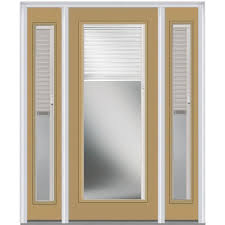 exterior door with blinds between glass mmi door 60 in x 80 in cadence left hand 3 4 lite 2 panel