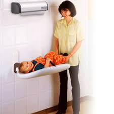 Mounted Changing Table Polypropylene Changing Station Wall Mounted Commercial