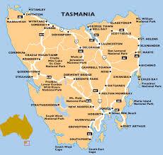 map of tasmania australia map of australia region political
