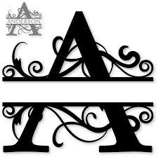 monogram letter s 26 best monogram split letters alphabet images on