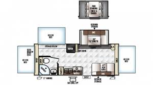 Rockwood Trailers Floor Plans Forest River Rockwood Roo 233s Hybrid Trailer Floor Plan