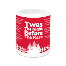 running ceramic mug twas the night before the race gone for a run
