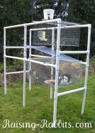 build a rabbit hutch with a pvc frame for durability and easy cleaning