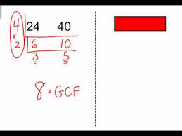 finding the gcf using the