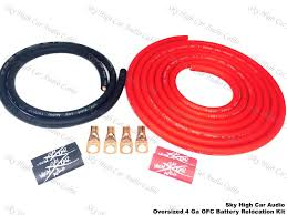 oversized 4 ga ofc battery cable relocation kit 12 u0027 2 u0027 wiring