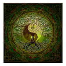 yin yang tree of poster zazzle com
