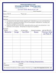 medication card template 7 medication list template procedure template sle