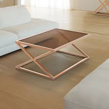gold glass coffee table rose gold glass coffee table