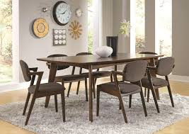 coaster malone mid century modern casual solid wood dining table