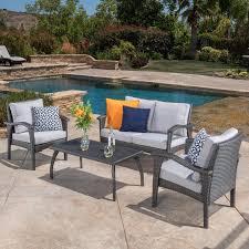 aliante outdoor wicker patio furniture viro sectional sofa w