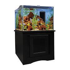 Home Aquarium Marineland 93 Gallon Frameless Cube Aquarium Set Up Full