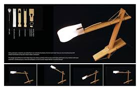 Make Wood Desk Lamp by Low Tech Articulated Desk Lamp 3 Steps