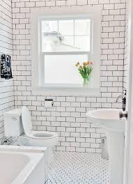 Subway Tile Bathroom Bathroom Interior Bathroom Unveil Subway Tile Black Grout