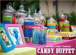 Candy Buffet For Parties by Colorful Sesame Street Candy Buffet Hostess With The Mostess