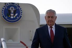 Seeking In India Of State Rex Tillerson Visits India Seeking Help In
