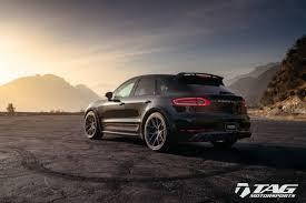 Porsche Macan Black Wheels - porsche macan with hre p101 in brushed dark clear hre
