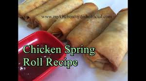how to make chicken spring roll recipe with homemade sheets my