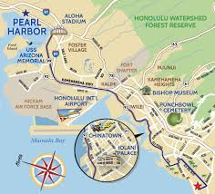 Arizona Stadium Map by Pearl Harbor Tour Map For A Hawaii Moped Or Scooter Rental