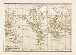 Large Vintage World Map by Rustic World Map Printable File Download Digitally Altered