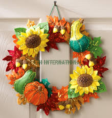 International Home Decor Harvest Time Wreath Bucilla Felt Christmas Home Decor Kit 86428