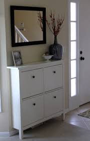 interior hallway area with hemnes shoe cabinet from ikea more