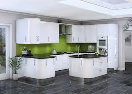 Gloss Kitchen Doors - White gloss kitchen cabinets