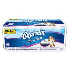 Charmin Bathroom Charmin Ultra Soft Toilet Paper 30 Double Rolls 003700086788