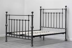 Metal Bed Frame King York Contemporary Black Nickel Metal Bed Frame King