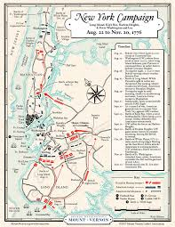 New York Maps Map The 1776 New York Campaign George Washington U0027s Mount Vernon