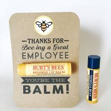 employee appreciation gift you re the balm chapstick thank you
