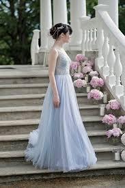 dusty wedding dress dusty blue wedding dress bohemian wedding dress dusty blue