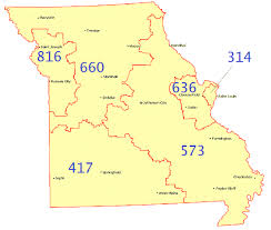 map of area codes file missouri area code map gif wikimedia commons
