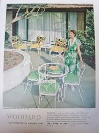 Iron Patio Furniture by Woodard Orleans 1950 Ad Vintage Wrought Iron Patio Furniture