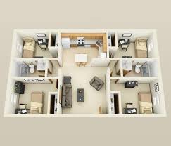 four bedroom 50 best 4 bedroom apartment house plans images on