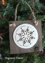 organized clutter simple rustic snowflake themed christmas tree