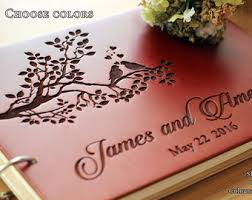 engravable wedding guest book unique wedding guestbook rustic wedding guest book wood