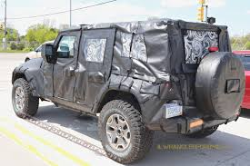 4 door jeep wrangler jacked up spied 2018 jeep wrangler jl unlimited up close 2018 jeep