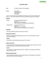 non academic resume Eps zp