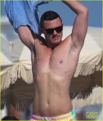 men nipple rings images Luke evans shows off nipple piercings while shirtless in miami jpg