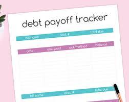 debt payoff tracker etsy