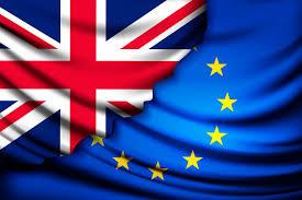 The European Flag Uk Flag Torn From Eu Flag Illustrations Creative Market