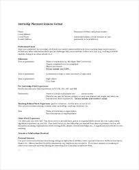 Resume Template For Internship Optometrist Resume Template 7 Free Word Pdf Documents Download