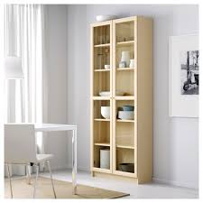 billy oxberg bookcase white 80x202x30 cm ikea