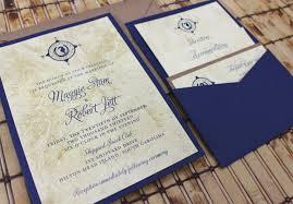 invitation pocket map and lucky seahorse wedding invitation pocket card