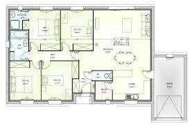 plan maison de plain pied 3 chambres exemple plan maison moderne modele interieur maison lovely modele