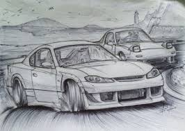 nissan 350z drawing sketch s15 silvia vs fd rx 7 by tougedrifting85 on deviantart