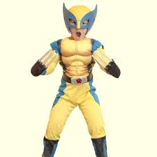 Wolverine Halloween Costume Boys Wolverine Classic Deluxe Muscle Halloween Costumes Claws Mask