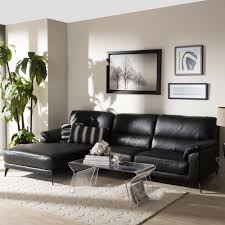 left facing chaise sectional sofa modern left facing chaise sectional sofa by baxton studio ebay